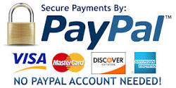 Secure Payments By PayPal - No account needed.